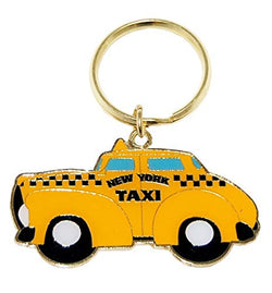New York City Yellow Taxi Metal Souvenir Keychain