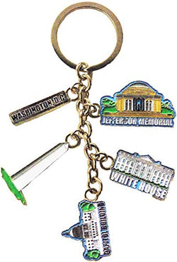 American Cities and States Metal Quality Keychains (Washington D.C.)