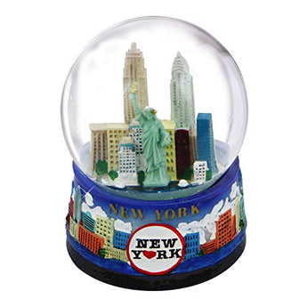 New York Snow Globe -65MM Skyline 614, New York Snow Globes, New York Souvenirs