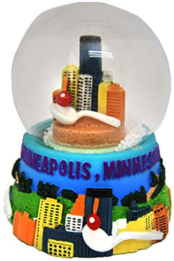 City of Minnesota Skyline Large Souvenir Collectible Snowglobe
