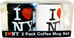 USA Company I Love New York and Coffee Mug Set, White/Black