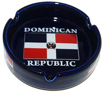 CityDreamShop Dominican Republic Flag Souvenir Ashtray