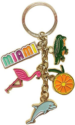 American Cities and States Metal Quality Keychains (Miami 5)