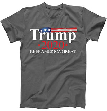Donald Trump 2020 Election USA Keep America Great USA T-Shirt Charcoal Small