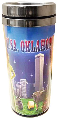 Collection of City Branded Beautifully Designed Travel Mugs (Oklahoma)