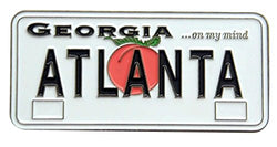 USA-States License Plate Magnets (Atlanta Georgia)
