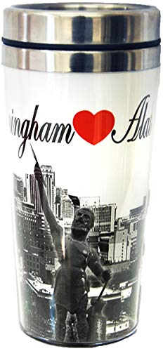 Birmingham Alabama Black and White Designed Travel Mug- Perfect for drinks on the go