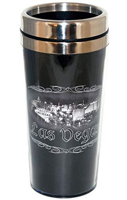 Las Vegas City with Welcome Sign Skyline Souvenir Outdoor Stainless Steel Insulated Travel Mug