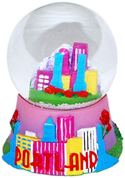 Collection of City and States Detailed 65mm Snow Globes (Portland Skyline)