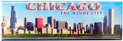 Chicago Magnet - Skyline Wide Day, Chicago Magnets, Chicago Souvenirs