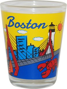 American Cities and States of Cool Shot Glass's (Boston MA)