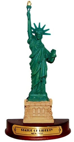 Statue of Liberty 3-D Magnet Wood Base, New York Souvenirs, Fridge Magnets, NY Magnet