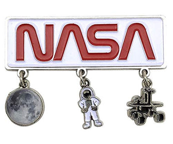 NASA Space Novelty Magnet for Refrigerator Fridge | 3 Charm Magnet Featuring Astronaut, Moon & Moon Rover | Perfect Souvenir Gift Collection for Men, Women & Kids