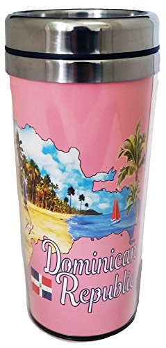Collection of City Branded Beautifully Designed Travel Mugs (Dominican Republic)