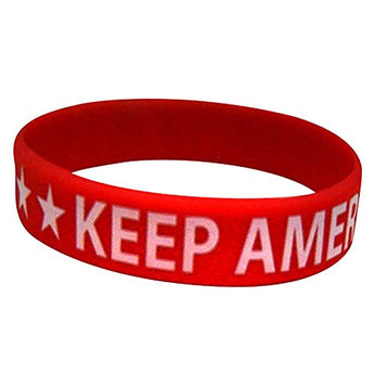CityDreamShop Keep America Great Novelty Inspirational Rubber Wristband Bracelet Souvenir