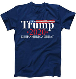 Donald Trump 2020 Election USA Keep America Great USA T-Shirt Navy Small