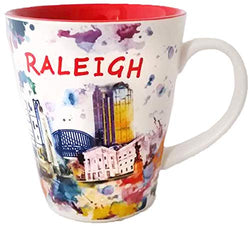 Raleigh North Carolina Watercolor Design Art Mug