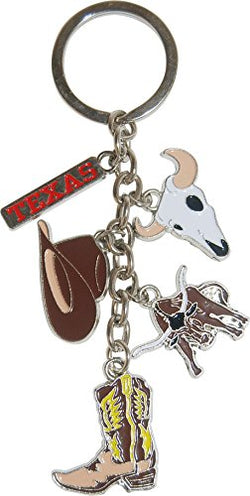American Cities and States Metal Quality Keychains (Texas)