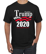 Trump 2020 Shirt Keep America Great T-Shirt Reelect President Donald Trump Mens Womens Non-PC Tee, Black, Medium