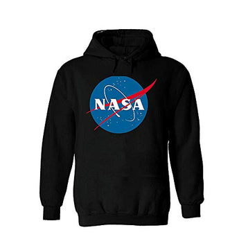 NASA National Space Administration Logo Men Women Unisex Hooded Sweatshirt Hoodie, Black, X-Large