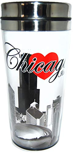 Collection of City Branded Beautifully Designed Travel Mugs (Chicago)