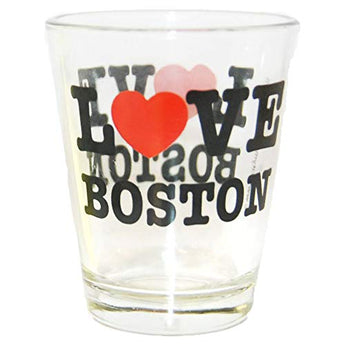 Long Lasting Heavy Base City Love BOSTON Clear Shot Glass