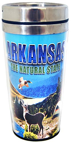 Collection of City Branded Beautifully Designed Travel Mugs (Arkansas)