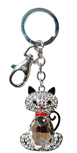 Diamond Encrusted Cute Panda Accessory Keychain Featuring a New York Tag- Perfect for Panda Lovers