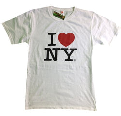 I Love NY New York Kids Short Sleeve Screen Print Heart T-Shirt White XL (18-20)