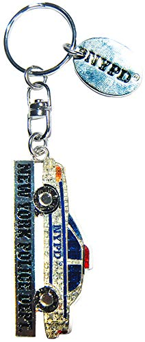 NYPD Official Police Car Souvenir Keychain