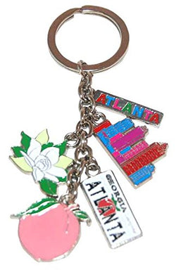 American Cities and States Metal Quality Keychains (Atlanta)