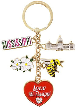 State of Mississippi 5 Charm Keychain