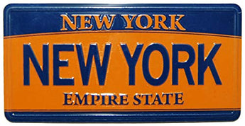 New York License Plate Novelty Magnet | Empire State License Plate Magnet | Perfect Souvenir Gift Collection for Men & Women Who Loves New York & Empire State