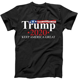 Donald Trump 2020 Election USA Keep America Great USA T-Shirt Black Large