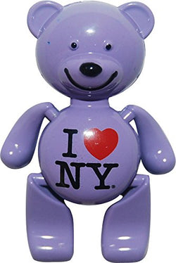 I Love New York Teddy Bear Magnets in Many Colors (Purple)