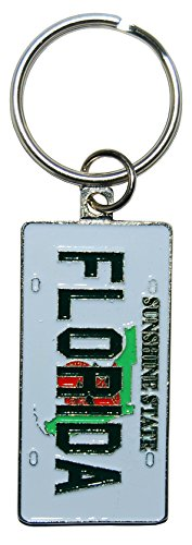 State of Florida License Plate Souvenir Keychain