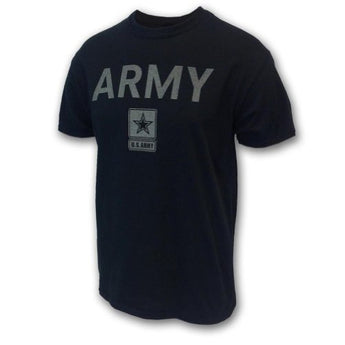 ARMY REFLECTIVE PT TSHIRT, small, black