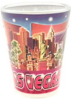 Las Vegas Colorful Cool Designed Souvenir Shot Glass