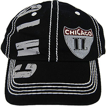CityDreamShop Selection of Chicago Adjustable Hats and Caps (Chicago Patch)
