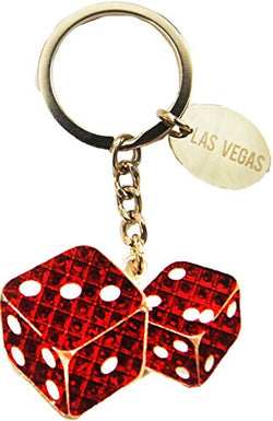 Dangle Keychains Perfect Souvenir Gift Collection (Red Dice)