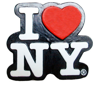 I Love New York Cutout Magnet in Black and White