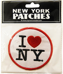 USA Company Patch, I Love New York, White