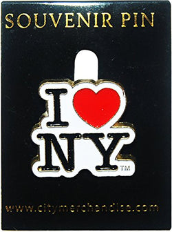 City Merchandise Cutout Lapel Pin, I Love New York