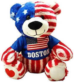CityDreamShop Boston USA 8 inch Soft Plush Bear