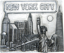 New York City Pewter Skyline Magnet