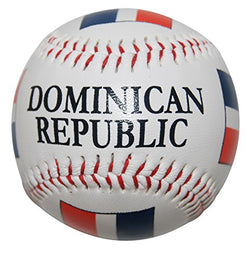 CityDreamShop Dominican Republic Flag Souvenir Baseball