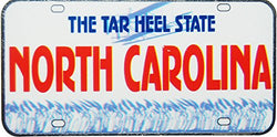 USA-States License Plate Magnets (North Carolina)