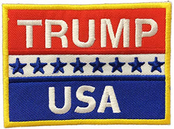 USA Trump Embroidery Patch for Trump Lover | Symbolic Republican Souvenir Patch | Perfect Souvenir Gift Collection for Men & Women who Loves Trump Republican USA