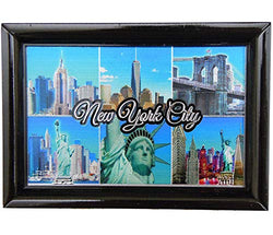 New York City Black Picture Frame with Skyline & Statue of Liberty Design | Rectangular Photo Frame for Men & Women | Perfect Souvenir Gift for NY City Lover
