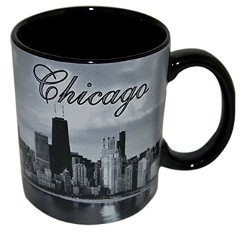 City of Chicago at Night, Skyline Coffee Mug- Made by CityDreamShop.com